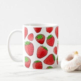 Watercolor Strawberry Coffee Mug