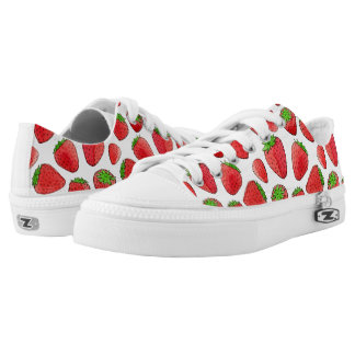 Watercolor Strawberry Low-Top Sneakers