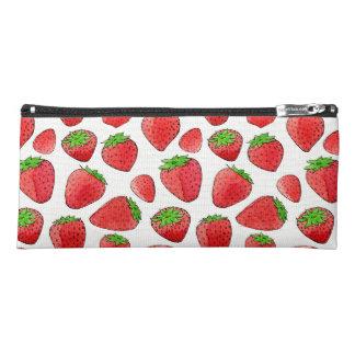 Watercolor Strawberry Pencil Case