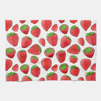 Watercolor Strawberry Towel