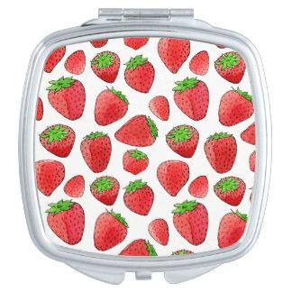 Watercolor Strawberry Vanity Mirror