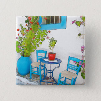 Watercolor street view 2 inch square button