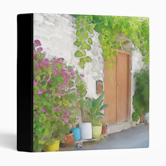 Watercolor street view 3 ring binder