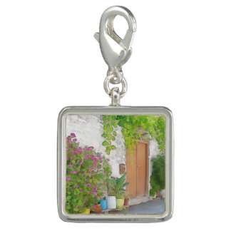 Watercolor street view charms