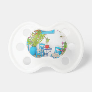 Watercolor street view pacifier
