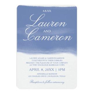 Watercolor Strip Invitation | Cornflower Blue