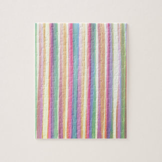 Watercolor Stripes Jigsaw Puzzle