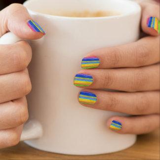 Watercolor Stripes Minx Nail Art