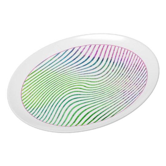 Watercolor stripes plate