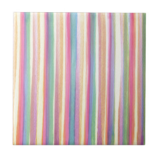 Watercolor Stripes Tiles