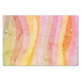 Watercolor Stripes Tissue Paper