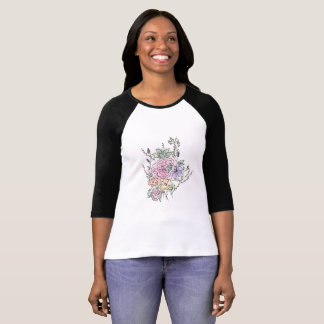watercolor style floral design T-Shirt
