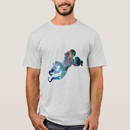 Watercolor Style Octopus Art T-Shirt