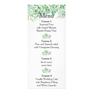 watercolor succulent wedding menu