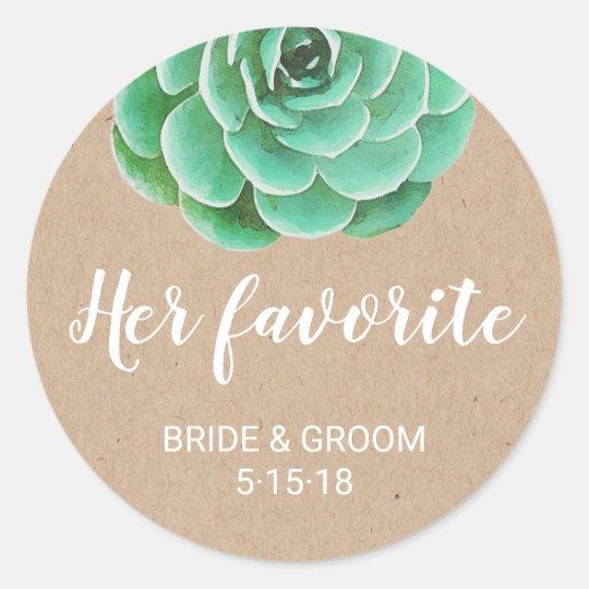 Watercolor Succulents   Her Favourite Favour Label