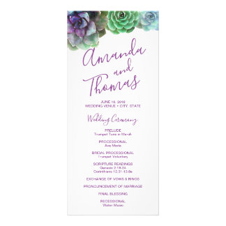 Watercolor Succulents | Wedding Rack Card