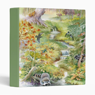 Watercolor Summer Scene Binder