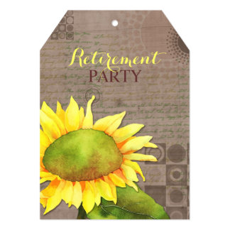 """Watercolor Sunflowers Retirement Party 5"""" X 7"""" Invitation Card"""