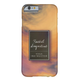 Watercolor Sunset Sky Yoga Mediation Instructor Barely There iPhone 6 Case
