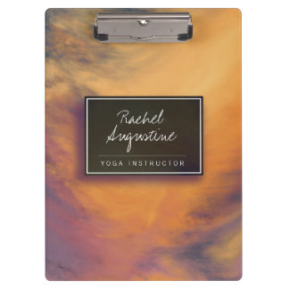 Watercolor Sunset Sky Yoga Mediation instructor Clipboard
