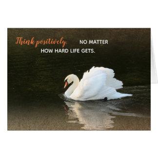 Watercolor Swan Card