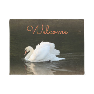 Watercolor Swan Doormat