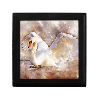 Watercolor Swan Gift Box