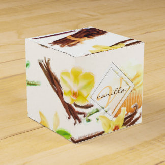 Watercolor Sweet Vanilla Orchid Monogram Favor Box