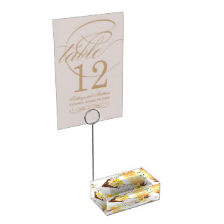 Watercolor Sweet Vanilla Orchid Monogram Place Card Holder