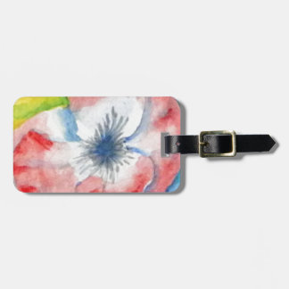 Watercolor Sweetpea Flower Art Luggage Tag