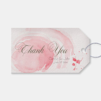 Watercolor Swirls Wedding Day Thank You Gift Tags Pack Of Gift Tags