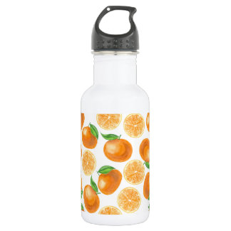 Watercolor tangerines 532 ml water bottle