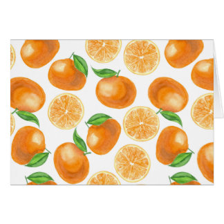 Watercolor tangerines card