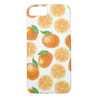 Watercolor tangerines iPhone 8/7 case