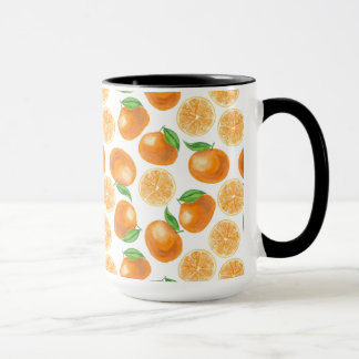 Watercolor tangerines mug