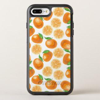 Watercolor tangerines OtterBox symmetry iPhone 8 plus/7 plus case
