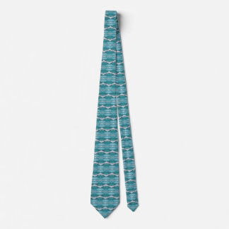 Watercolor Teal Aztec Tribal Style Pattern Tie
