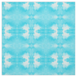 watercolor teal pattern fabric