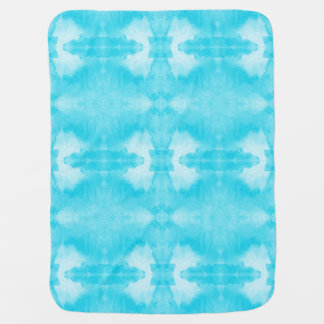 watercolor teal pattern swaddle blanket