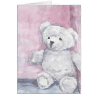 Watercolor Teddy Bear Note Cards, Blank Interior Card