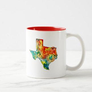 Watercolor Texas Coffee Mug