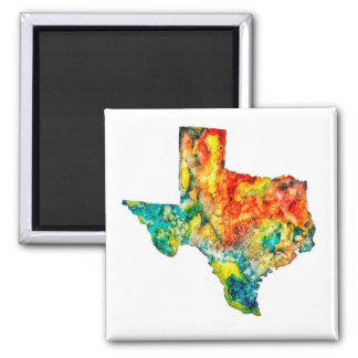 Watercolor Texas Custom Magnet