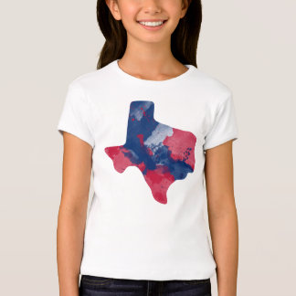 Watercolor Texas Girls Top