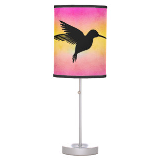 Watercolor Textured Hummingbird Colibri Lamp