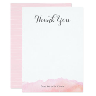Watercolor Thank You Note Cards