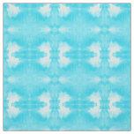 watercolor tie-dye teal pattern fabric