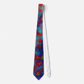 Watercolor tiedye abstract print in rainbow colors tie