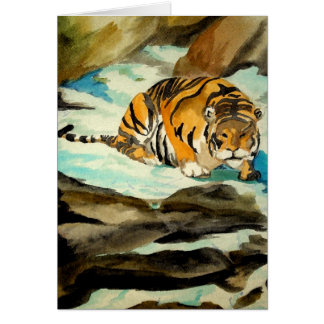 Watercolor Tiger Card