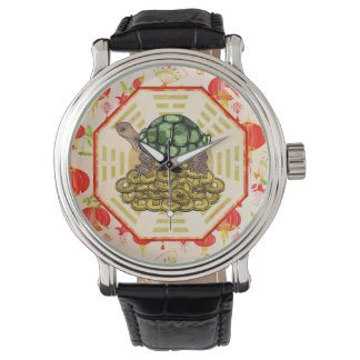 Watercolor Tortoise / Turtle Feng Shui on Bagua Watch