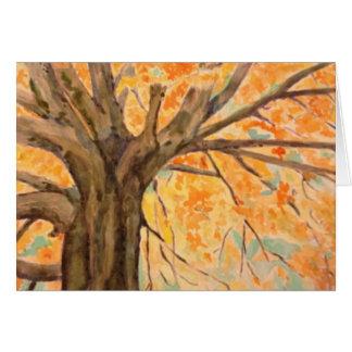 Watercolor Tree in Autumn Glory, blank inside Card